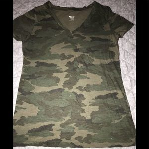 Mossimo supply co. Camouflage v neck top size M